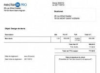 Choix du design des documents commerciaux (devis, factures, bons de commande)